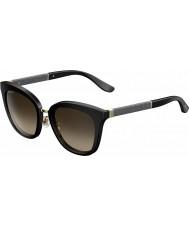 Jimmy Choo Bayanlar Fabry-s fa3 j6 siyah ışıltılı güneş gözlüğü