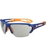 Cebe S-track büyük mat mavi turuncu variochrom perfo güneş gözlüğü