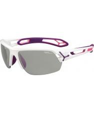 Cebe S-track orta boy beyaz mor variochrom perfo güneş gözlüğü