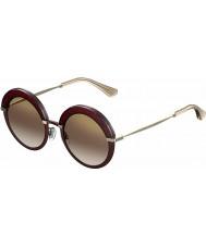 Jimmy Choo Bayan gotha-s 65L qh bordo altın ayna güneş gözlüğü
