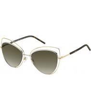 Marc Jacobs Bayanlar 8-ler apq ha altın karanlık havana güneş gözlüğü marc