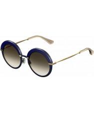 Jimmy Choo Bayan gotha-s 3ue js mavi altın güneş gözlüğü