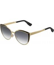 Jimmy Choo Bayanlar domi-s psu 9c altın siyah güneş gözlüğü