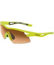 Bolle Vortex neon sarı modülatör kehribar güneş gözlüğü