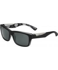 Bolle Jude mat siyah baklava desenli beyaz polarize güneş gözlüğü tns