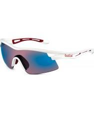 Bolle Vortex parlak beyaz, mavi güneş gözlüğü gül