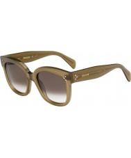 Celine Bayanlar 41805-ler qp4 z3 askeri yeşil güneş gözlüğü cl