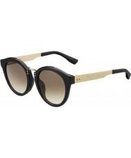 Jimmy Choo Bayanlar Pepy-s qfe jd siyah altın güneş gözlüğü gül