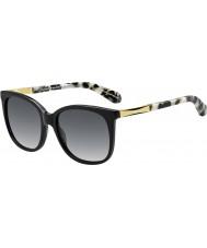 Kate Spade New York Bayan Julieanna-s anw f8 siyah altın güneş gözlüğü