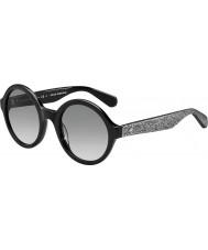 Kate Spade New York Bayan khrista-s S2J o0 siyah gümüş ışıltılı güneş gözlüğü