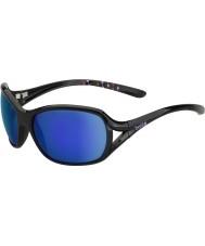 Bolle Solden parlak siyah, mavi-mor güneş gözlüğü