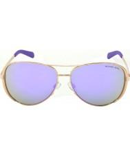 Michael Kors Mk5004 59 chelsea altın 10034v mor aynalı güneş gözlüğü gül